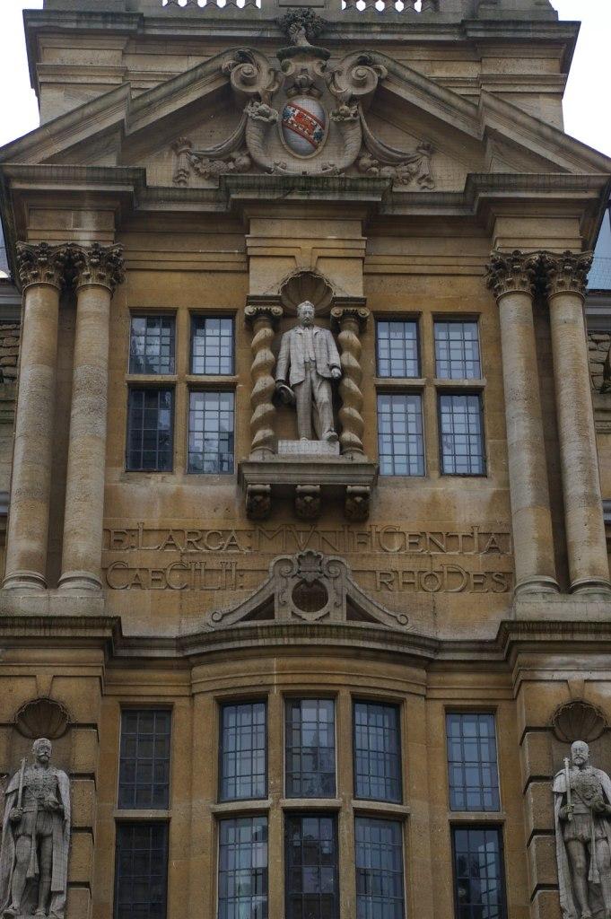 Statue of historic figure Cecil Rhodes