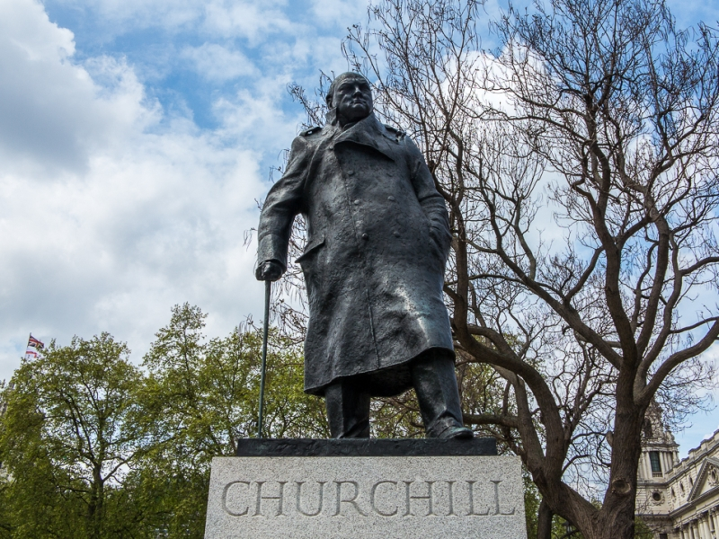 Statue of Winston Churchill, cause for controversy