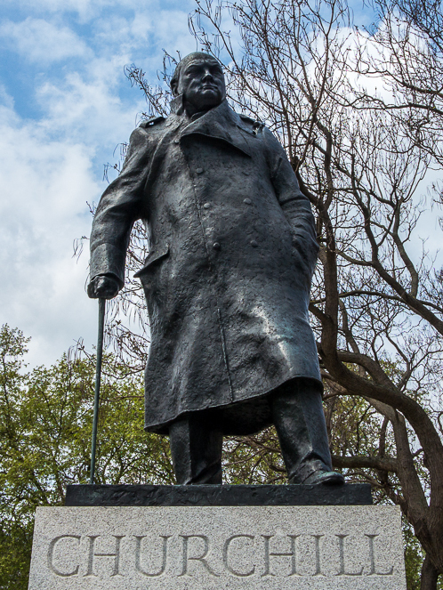 Statue of historic figure Winston Churchill