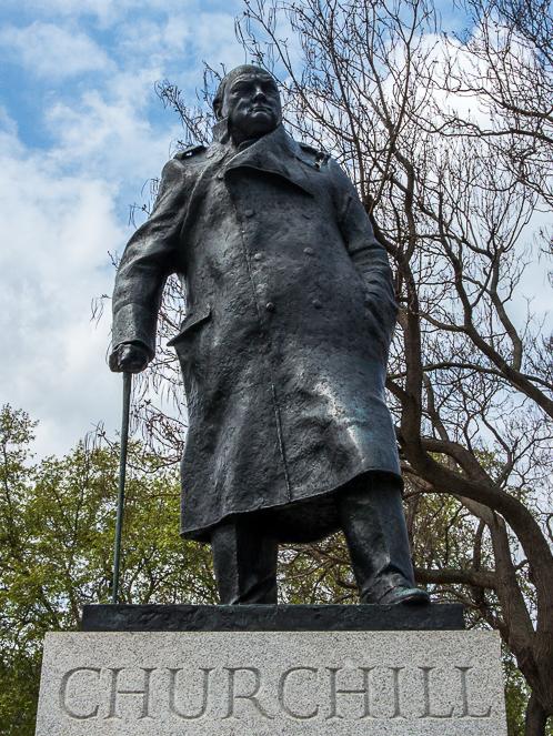 Statue of historic figure Winston Churchill