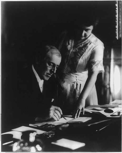 Edith Wilson acting as President of the United States