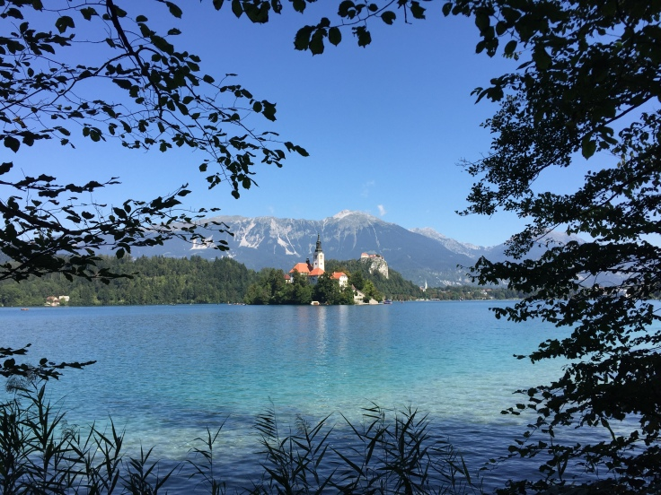 Feature image Touring Slovenia, showing Lake Bled