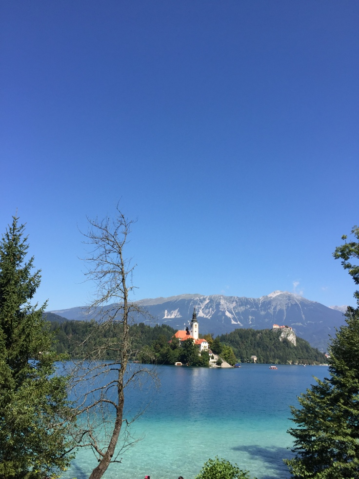 Lake Bled portrait from tour of Slovenia