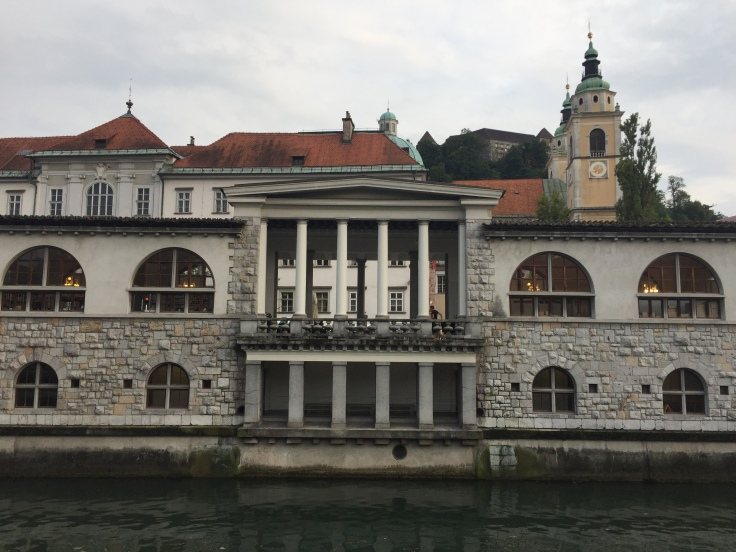 Ljubljana buildings from tour of Slovenia