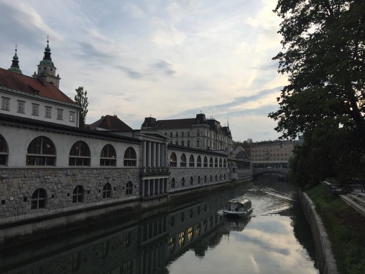 Ljubljana river, from Slovenia tour