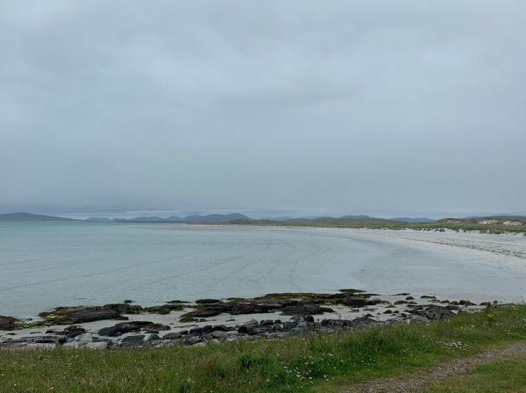 Camping by North Uist beach, Outer Hebrides