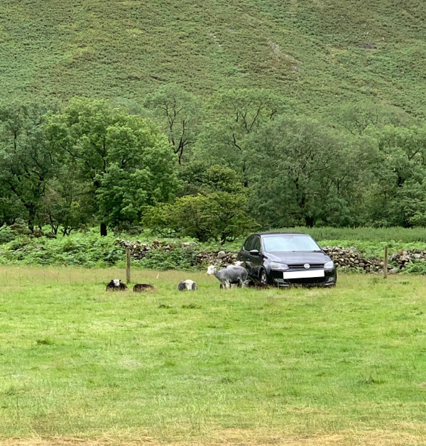 Image of Scafell Pike car park in the Lake District