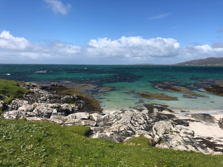View from camping in the Outer Hebrides