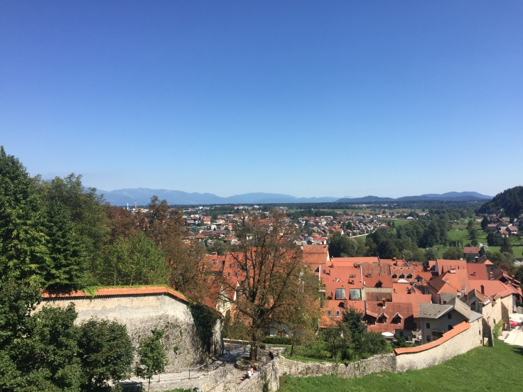 View from Church of St. Cross, touring Slovenia