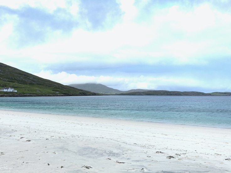 Wild camping in Vatersay Beach, Outer Hebrides