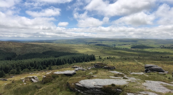 Dartmoor, viewed from our 'staycation' roadtrip wandering the British Isles