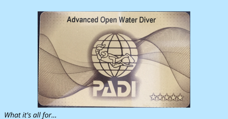 PADI advanced open water scuba diving qualification