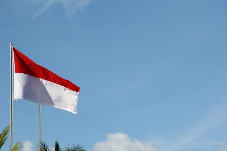 Indonesian flag displaying my holiday bucket list